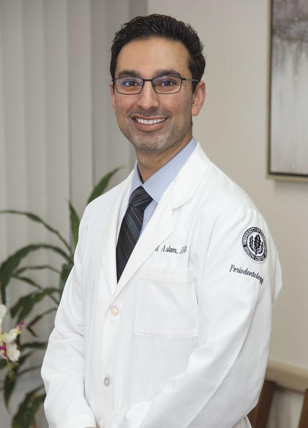 Dr. Aslam, Board-Certified Periodontist