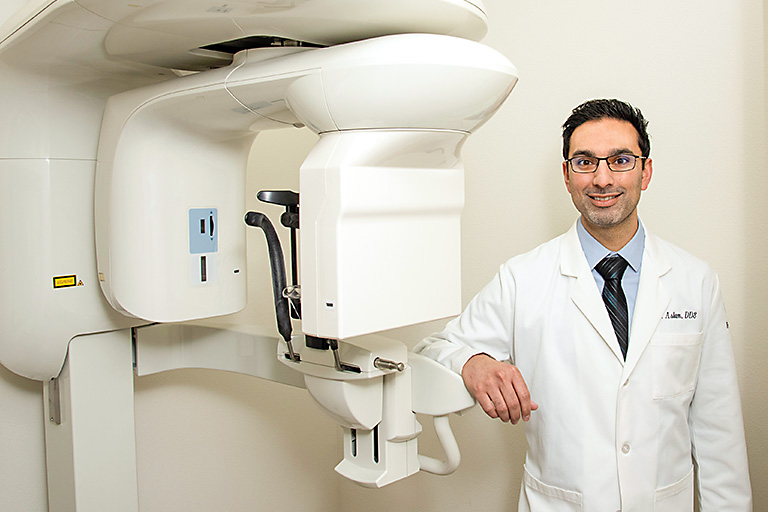 Dentist with cone beam CT scanner